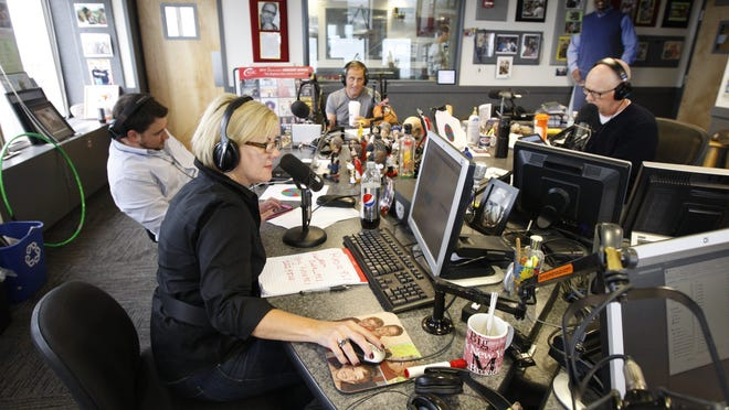 File Photo: Kimberly and Beck on the air.