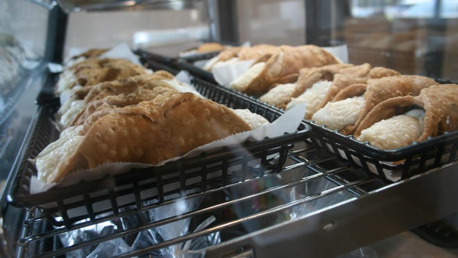 Rows of cannolis in a display case at Trulli di Turi in Utica on Friday, Aug. 21, 2020.