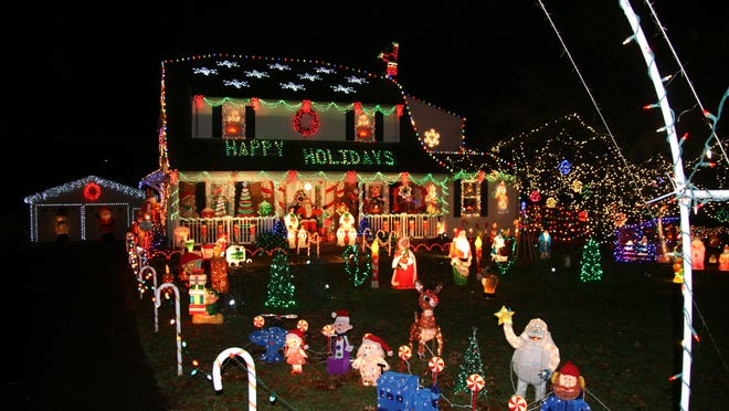 """Edward Parze's Freehold home is in the running for """"best holiday lights display"""" in the country."""