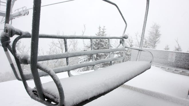Killington Resort will open to the general public Tuesday and to passholders the day before, Monday. This file photo from October 15, 2010 was taken after a nor'easter dropped 10 inches of early season snow.
