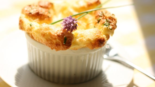 """This Parmesan Chive Souffle was inspired by Ruth Reichl's """"Delicious: A Novel."""""""
