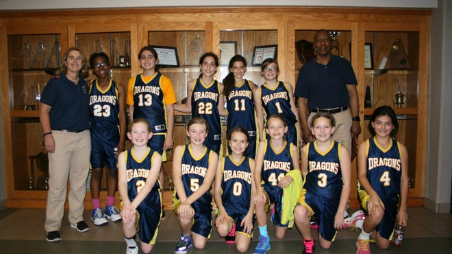 The Creative Learning Academy 5th and 6th grade girls basketball team recently swept the Catholic Youth Sports League regular season and tournament championships. CLA knocked off Redeemer Lutheran in the championship game by a 12-3 margin. The team is coached by coach Melissa Hesser and coach Keith Reeves. Team members include (in no particular order) Dima Alsheikh, Nora Alsheikh, Estee Davidson, Reese Drewry, Ani Sekhon, Clare Reilly, Lacey Fisher, Alyssa Bernhardt, Kaitlyn Allerellie, Akelah Reeves, Cal Neuhaus, Olivia Bledsoe.