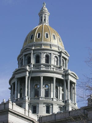 -  -03-05-2006, B7 David Zalubowski/The Associated Press Blue sky surrounds the gold dome of the Colorado State Capitol in January. Major issues including illegal immigration, reform of the state's pension plan and proposals to spend $4 billion in tax surplus refunds are still pending as lawmakers near the halfway point of the 2006 session. - ** ADVANCE FOR SUNDAY MARCH 5 ** Blue sky surrounds the gold dome of the Colorado State Capitol, Jan. 4, 2006, in Denver. Major issues including illegal immigration, reform of the state's pension plan and proposals to spend $4 billion in tax surplus refunds are still pending as lawmakers near the halfway point of the 2006 session. (AP Photo/David Zalubowski)