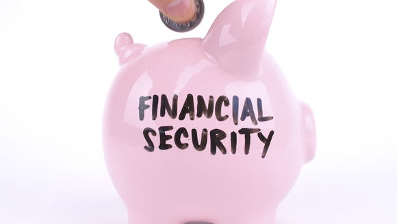 Photo illustration shows a piggy bank for saving toward