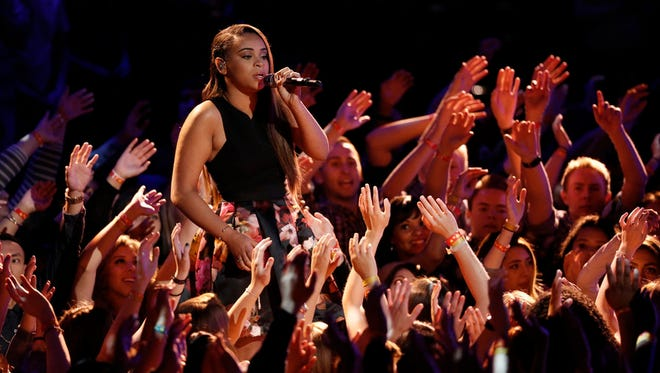 """THE VOICE -- """"Live Finale"""" Episode 818B -- Pictured: Koryn Hawthorne -- (Photo by: Tyler Golden/NBC)"""