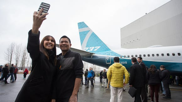 Boeing employees get their first look at the company's