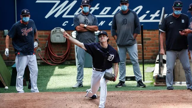 The Detroit Tigers called up Casey Mize and put him in the starting rotation.