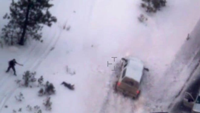 "FILE - This Jan. 26, 2016 image made from video provided by the FBI shows Robert ""LaVoy"" Finicum after he was fatally shot by police near Burns, Ore. The armed takeover of Malheur National Wildlife Refuge and its aftermath was overwhelmingly selected Oregon's story of the year for 2016. (FBI via AP, file)"