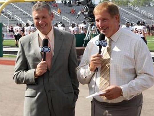 Dave Lapham (right) and Brad Johansen did Bengals games
