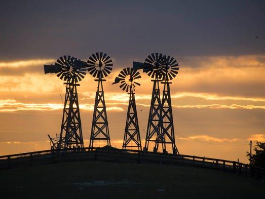windmills on highway 71