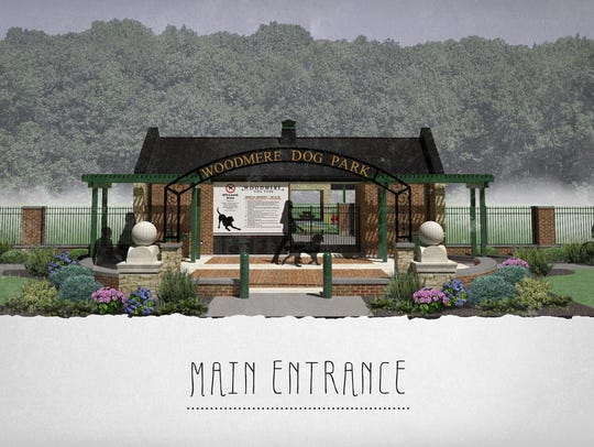 Woodmere Dog Park main entrance