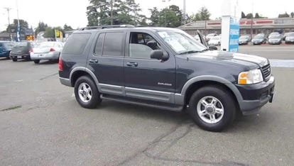 Authorities are seeking the driver of a blue Ford Explorer.