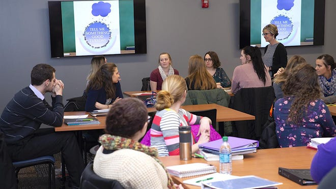 Siena Heights University Education students attend courses in the recently renovated McLaughlin Building, which was formerly the St. Joseph Academy. Classrooms include state-of-the-art technology that is incorporated into coursework.