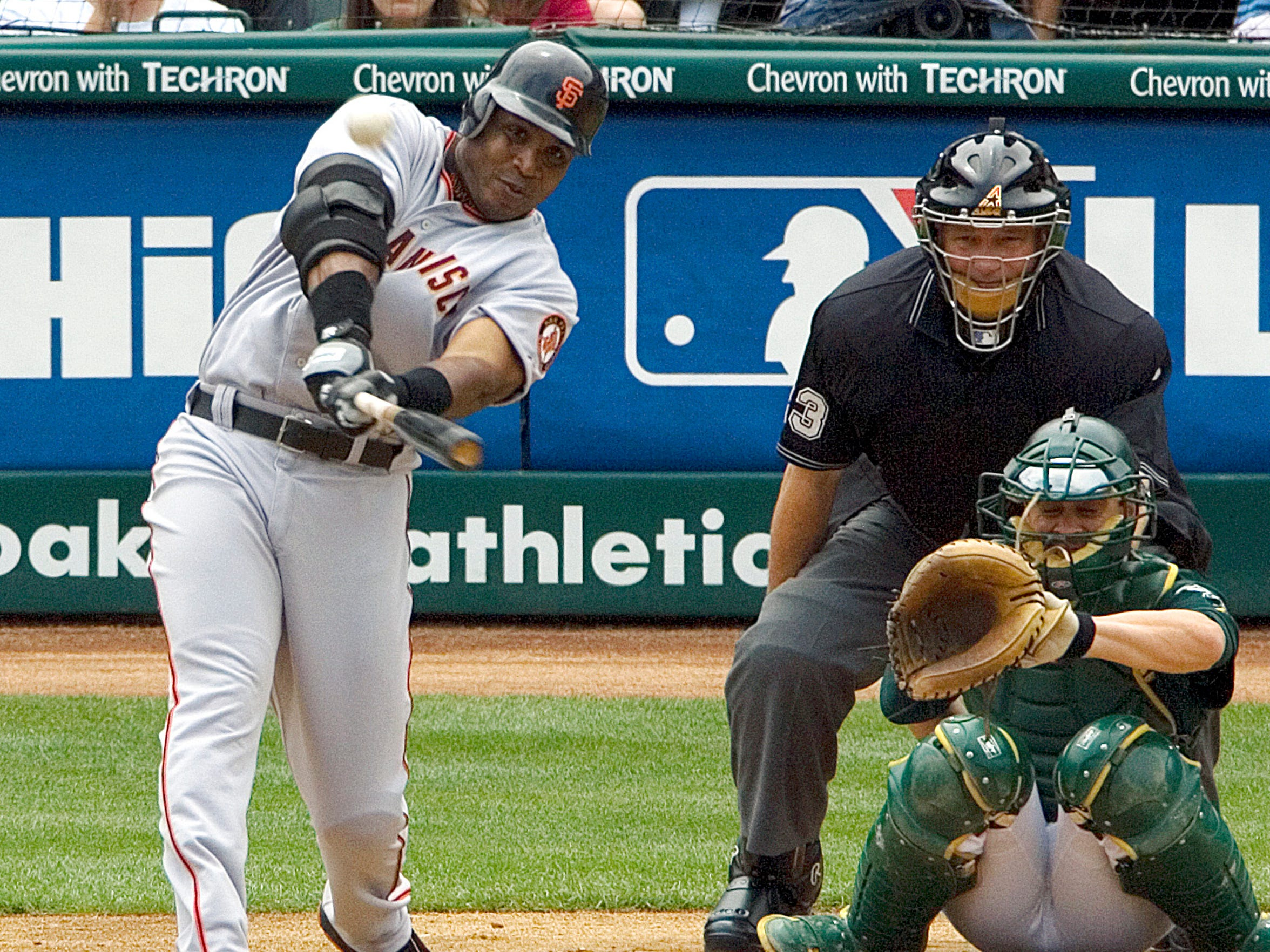 Facing Brad Halsey on May 20, 2006, San Francisco Giants slugger Barry Bonds hits his 714th career home run to tie Babe Ruth for second in career home runs.