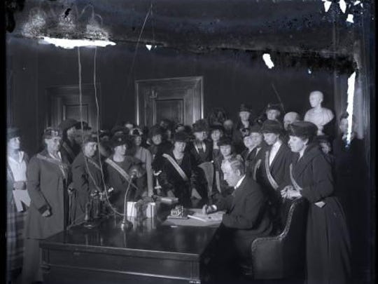 Kentucky Gov. Edwin P. Morrow signed the 19th Amendment into law in 1920. The 19th Amendment to the United States Constitution prohibits any United States citizen from being denied the right to vote on the basis of sex.