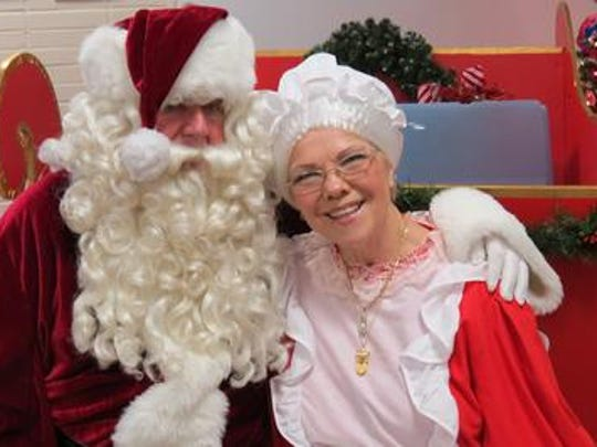 Former Toms River Mayor Roden S. Lightbody as Santa Claus, with his wife, Norvella (Pug) as Mrs. Claus, in 2014.