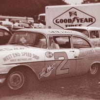 Dave Jensen and his daughter, Linda, at Elkhart Lake's Road America enjoy a break in the racing in this undated photo.