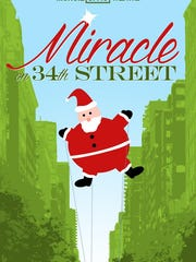 "Muncie Civic Theatre presents ""Miracle on 34th Street"" throughout December."