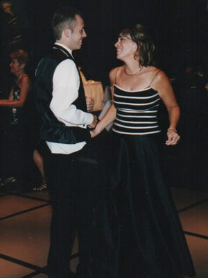 Karen Boland and her son, Cory, in 2003.