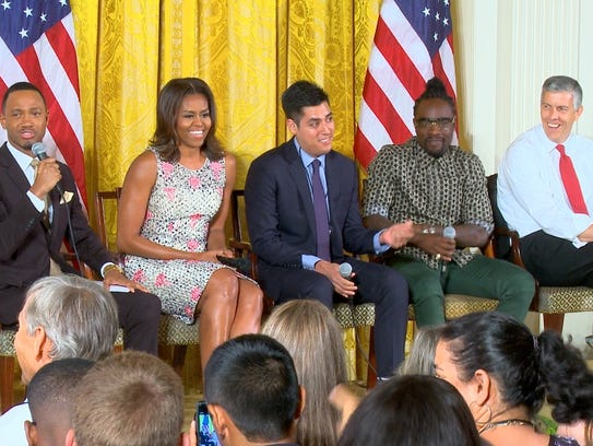 E! News co-anchor Terrence Jenkins hosted a panel with