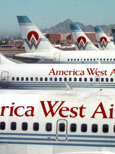 1983: America West Airlines, based in Tempe and led by Ed Beauvais, begins flying with three planes, 280 employees and service to five cities.