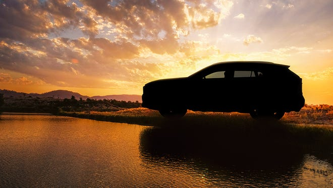 Toyota released this teaser image of the redesigned 2019 RAV4 ahead of its official reveal at the New York auto show on March 28, 2018.