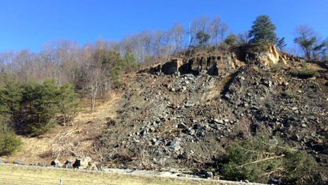 A rock slide Feb. 26, 2016, on Interstate 75 at mile marker 141.5 near Pioneer, Tenn., forced the closure of the highway in both directions, potentially for weeks.