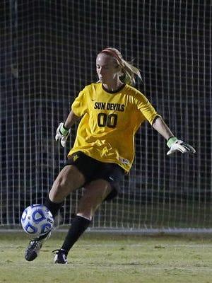 After a 3-0 win over Oregon State on Friday, goalkeeper Chandler Morris is ASU soccer's career shutout leader.