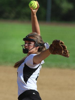 South Plainfield pitcher Katherine Vill throws in the GMCT on June 1, 2016.