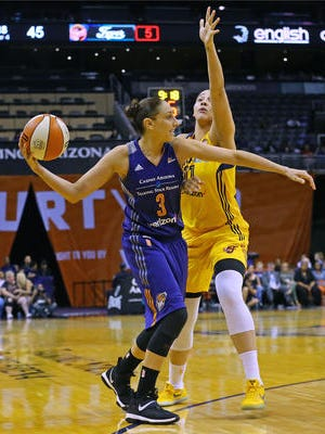 Phoenix Mercury guard Diana Taurasi (3) was suspended for one game without pay.