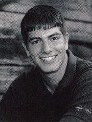 Brandon Routh's senior year yearbook photo.