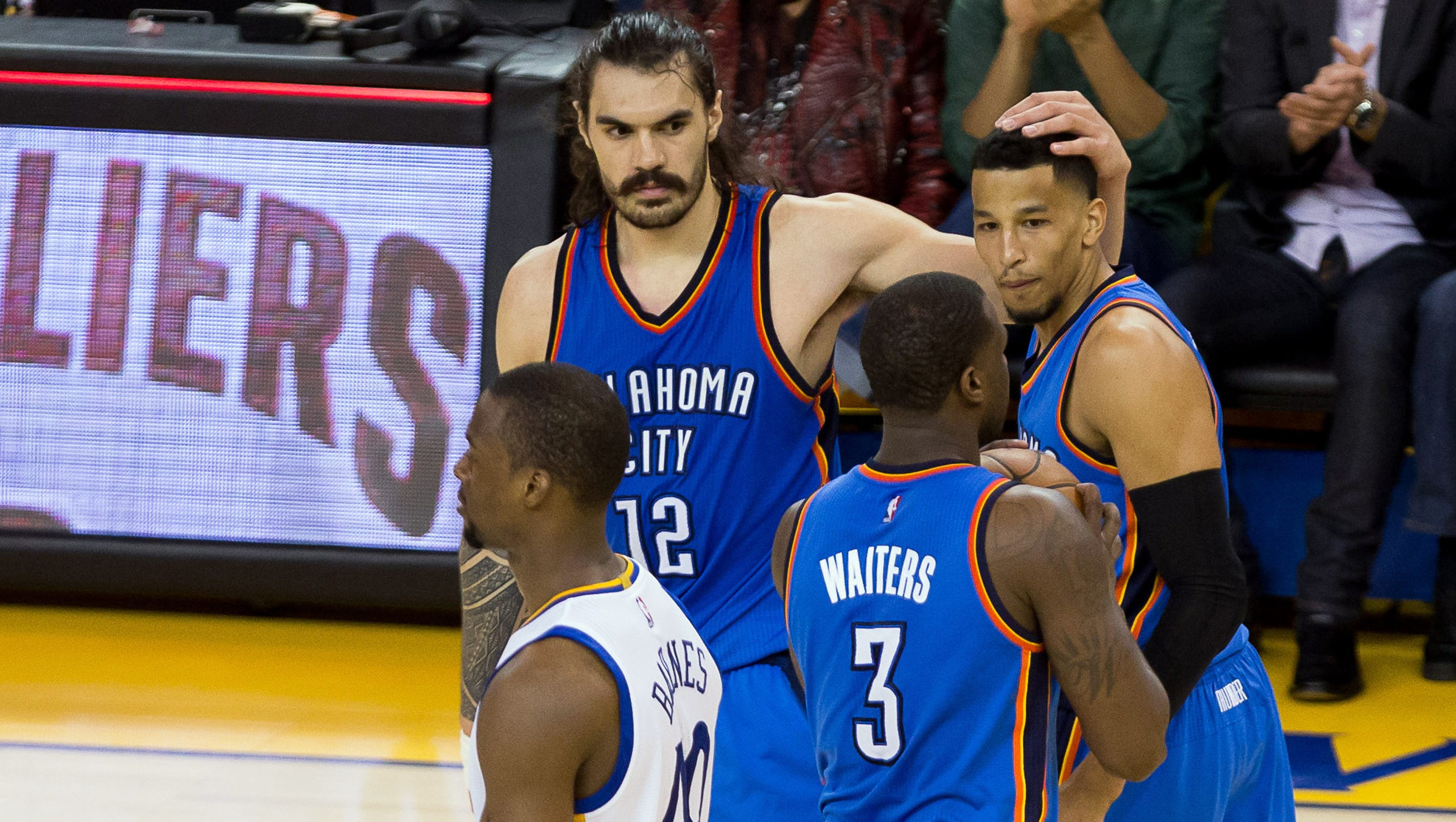 Steven Adams apologizes for 'quick little monkeys' comment after Thunder beat Warriors
