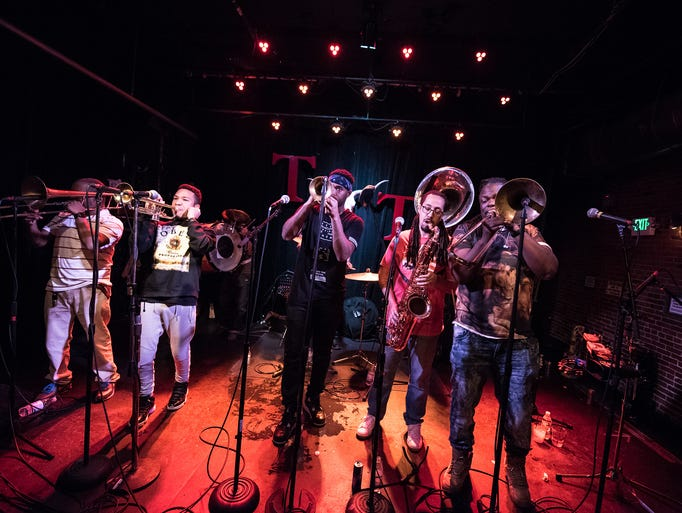 The Grammy-winning Rebirth Brass Band from New Orleans