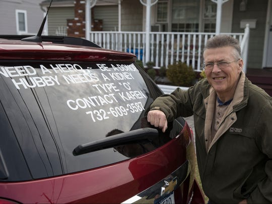 Greg Kava of Middletown is in need of a kidney. Family members have taken to advertising on the back of cars to find donors. Port Monmouth, NJWednesday, February 22, 2017.@dhoodhood