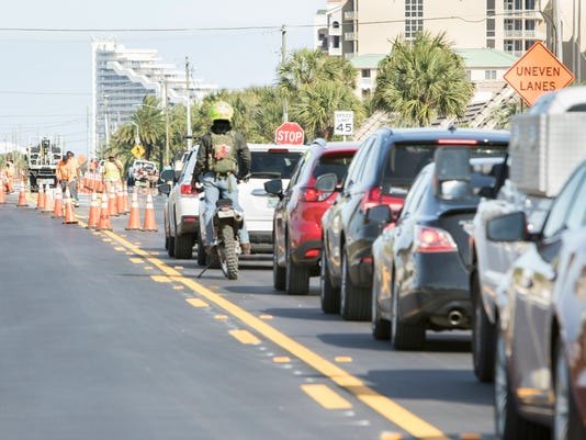 Perdido road work traffic