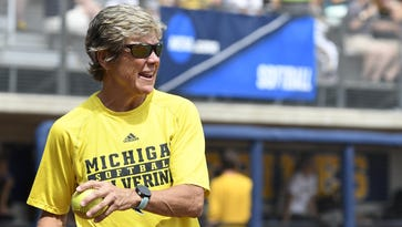 """Michigan softball coach Carol Hutchins will compete in """"Dancing with the Michigan Stars"""" on Monday."""