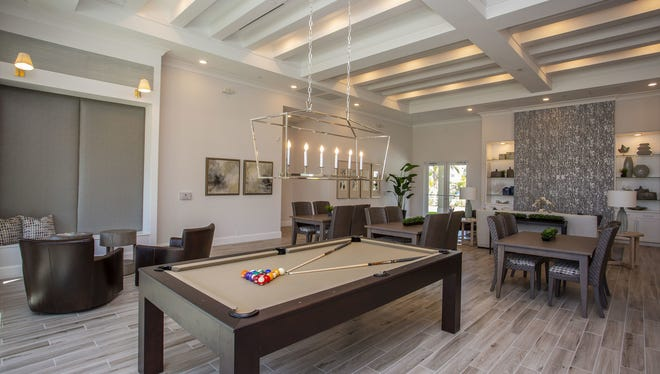 The community clubhouse at Milano Lakes, a new luxury apartment community off Collier Boulevard in South Naples.