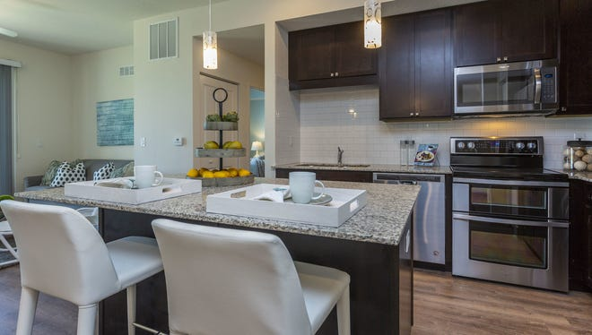 The new furnished models at Milano Lakes show how the rooms may be furnished and also showcases the luxurious finishes of the apartments.