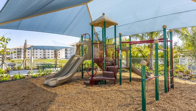 The children's playground is one of many amenities available for residents at Milano Lakes, a new luxury apartment community off Collier Boulevard in South Naples.