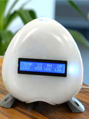 The Air Quality Egg measures the quality of air 24/7.