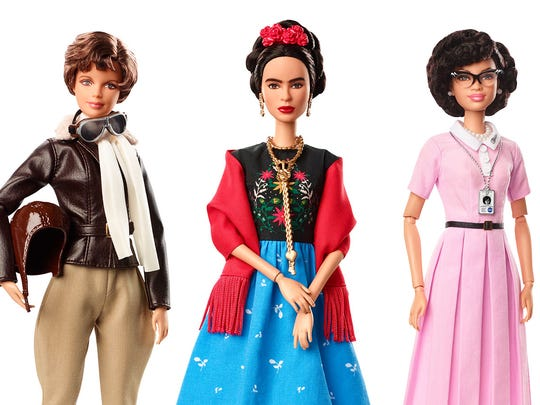 """The historical dolls are part of Barbie's """"Inspiring Women"""" line."""
