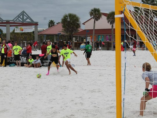 Major Beach Soccer action during 2016 Summer Qualifying Tournament Series in the youth division.