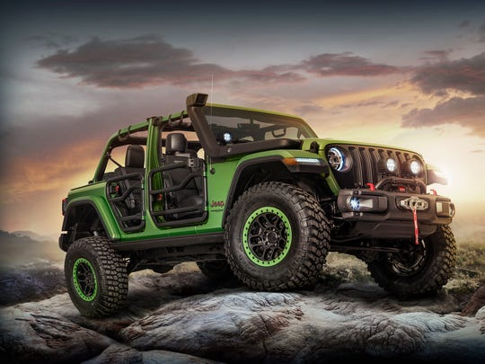 The 2018 Jeep Wrangler Rubicon Unlimited with modifications by Mopar.