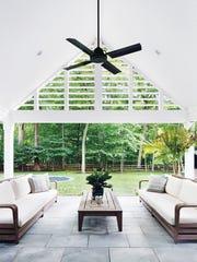 Upper Saddle River backyard designed by Z+ Architects,