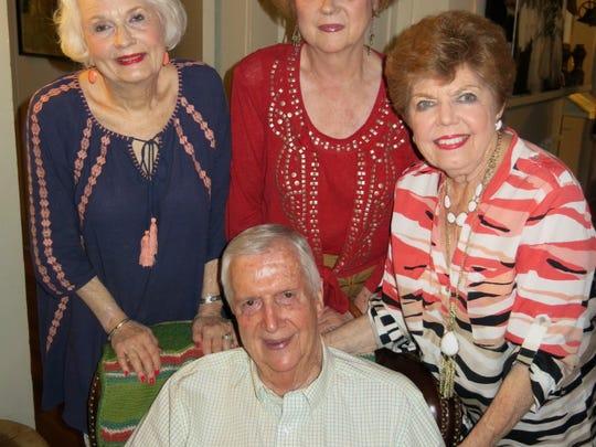 Glenn Flournoy (clockwise from seated), Ginger Flournoy, Mary Wark, Evelyn Quinn at Guth anniversary dinner.