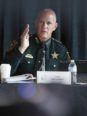 Chairman Bob Gualtieri, sheriff of Pinellas County, speaks during a state commission meeting Tuesday in Sunrise, Broward County.