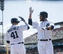 It was J.D. Martinez's fifth home run in six games...