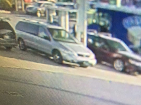 The car police say may be driven by the woman suspected of making unauthorized charges on a credit card.