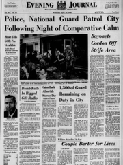 The front page of the Wednesday, April 10, 1968 Evening Journal.
