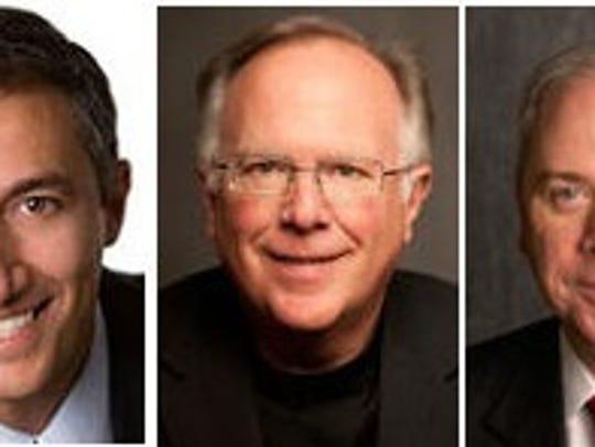 State Reps. Giovanni Capriglione, Todd Hunter and Gary